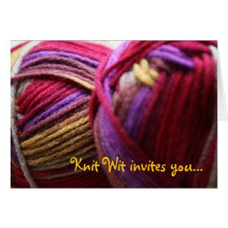 Knitting Club Invitation