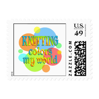 Knitting Colors My World Postage