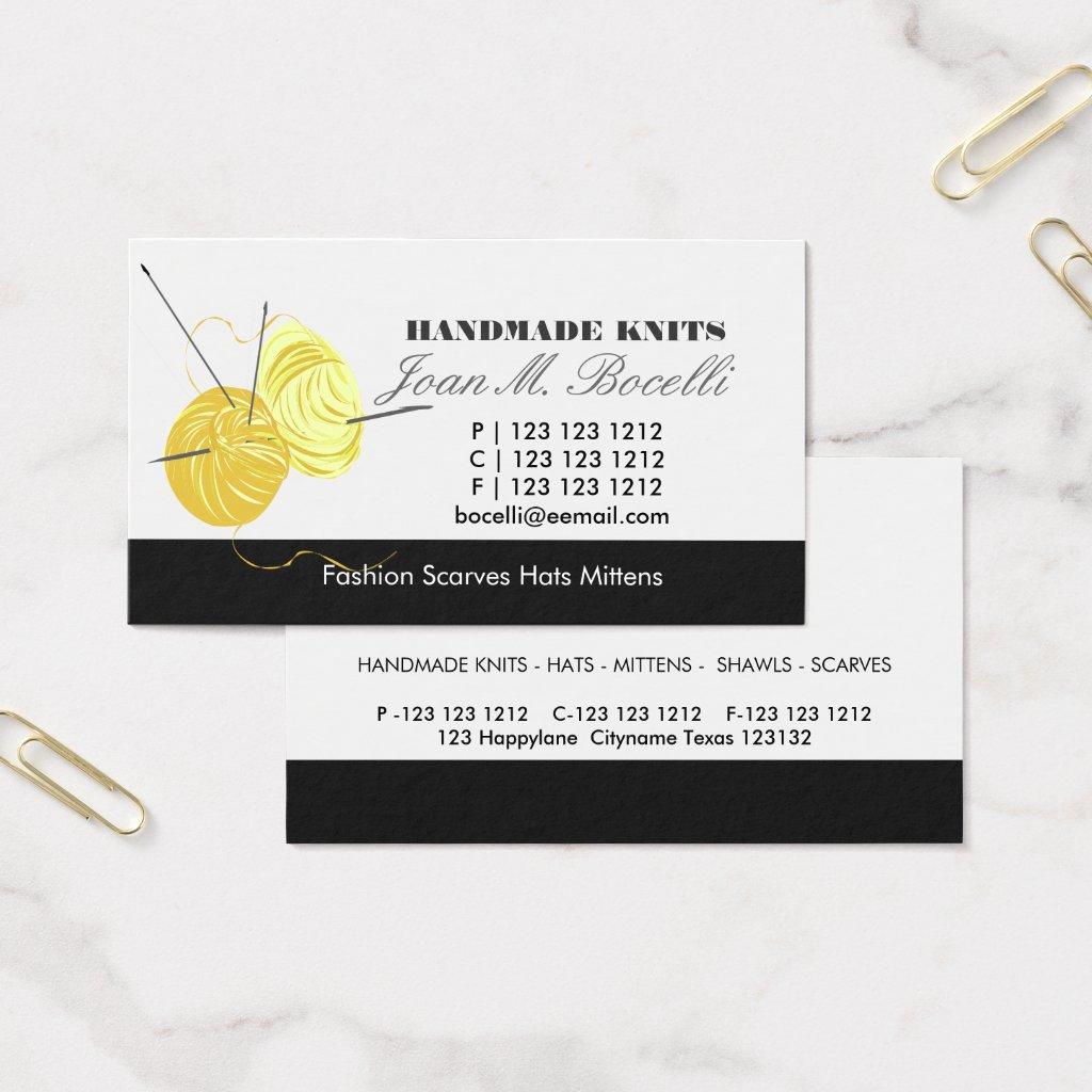 Knitting Craft Artist Business Card