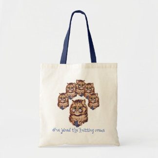 Knitting Crazy Tote Bag
