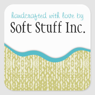 Knitting crochet yarn sweater texture label square stickers