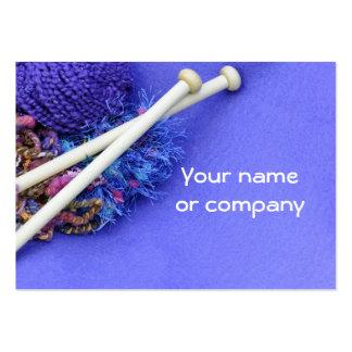 Knitting crocheting fiber arts business card