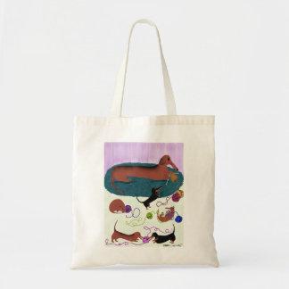 Knitting Dachshund Bag
