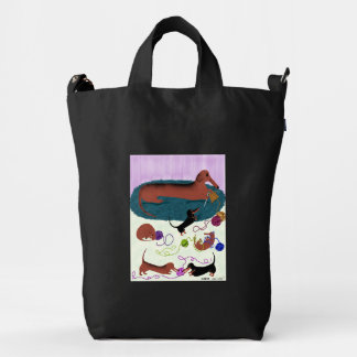 Knitting Dachshund Duck Bag
