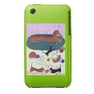 Knitting Dachshund iPhone 3G Case-Mate Case-Mate iPhone 3 Case