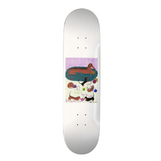 Knitting Dachshund Skateboard Deck