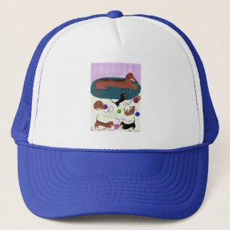 Knitting Dachshund Trucker Hat