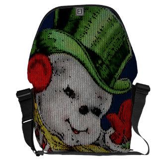 Knitting Design: Waving Snowman Courier Bags