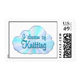 Knitting Dreamer Postage Stamp