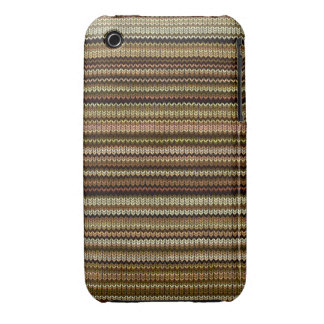 Knitting Effect: Shades of Brown and Beige iPhone 3 Case-Mate Cases
