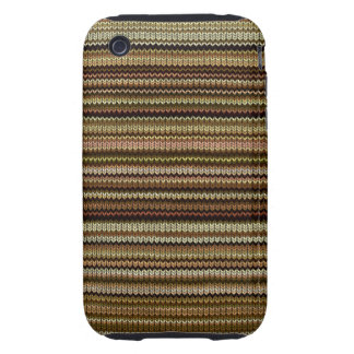 Knitting Effect: Shades of Brown and Beige iPhone 3 Tough Covers