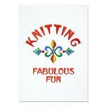 Knitting Fabulous Fun 5x7 Paper Invitation Card