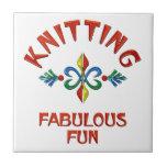 Knitting Fabulous Fun Ceramic Tile