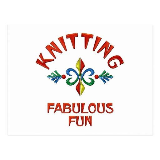 Knitting Fabulous Fun Postcard