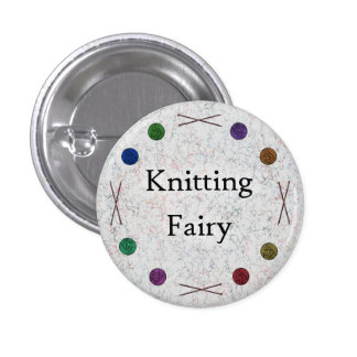 Knitting Fairy Pinback Button