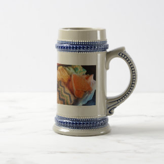 Knitting for Baby 18 Oz Beer Stein