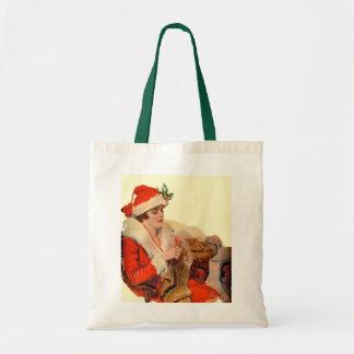 Knitting for Christmas Tote Bag
