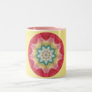 Knitting for Fun Fractal Two-Tone Coffee Mug