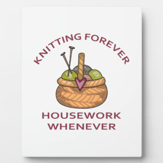 KNITTING FOREVER PHOTO PLAQUES