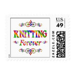 Knitting Forever Postage Stamps