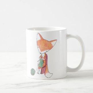 Knitting Fox Mug Knitting Lovers Graphic Fox Art