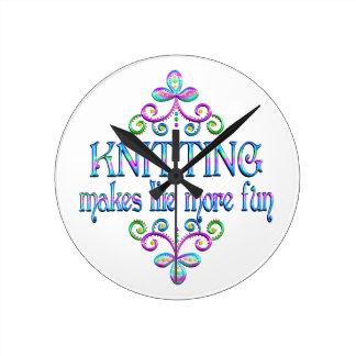 Knitting Fun Round Clock