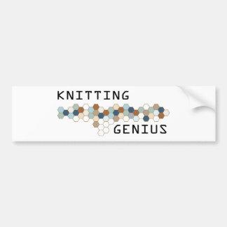 Knitting Genius Bumper Sticker