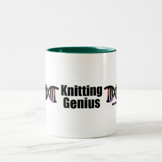 Knitting Genius Two-Tone Coffee Mug