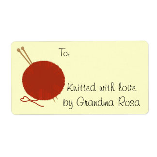 Knitting Gift Avery Label Tag Shipping Label