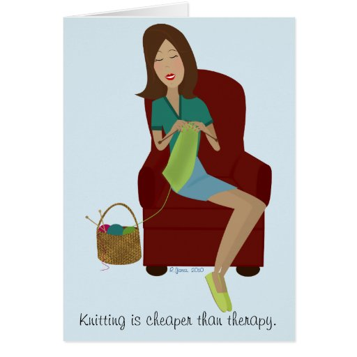 Knitting Birthday Card : Knitting gift greeting card zazzle