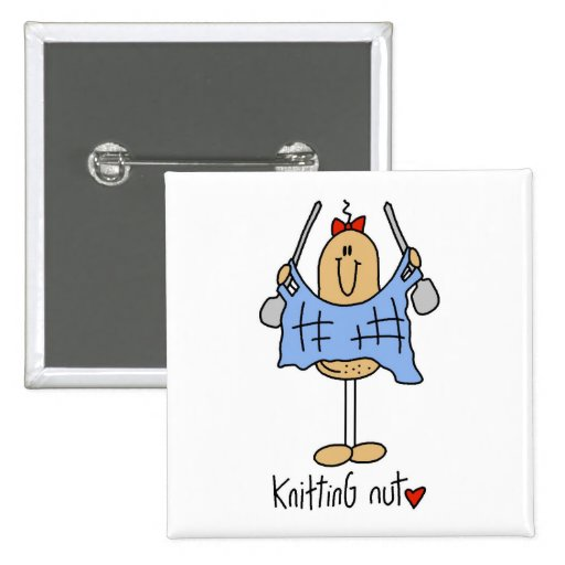 Knitting Gift Pinback Buttons