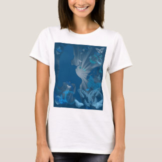 Knitting Girl with Butterflies and Bubbles T-Shirt