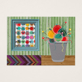 "Knitting ""Handmade By"" - SRF Business Card"