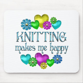 Knitting Happiness Mouse Pad
