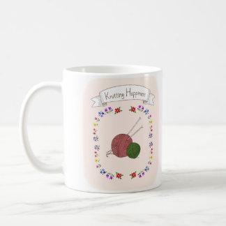 Knitting Happiness Mug Unique Knitting Lover Mug