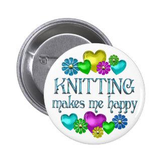 Knitting Happiness Pinback Button