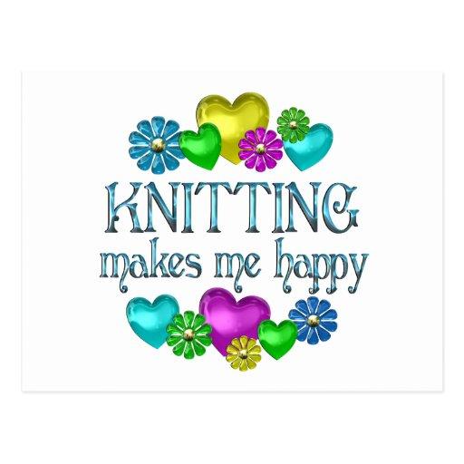 Knitting Happiness Postcard