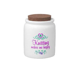 Knitting Happy Candy Dish