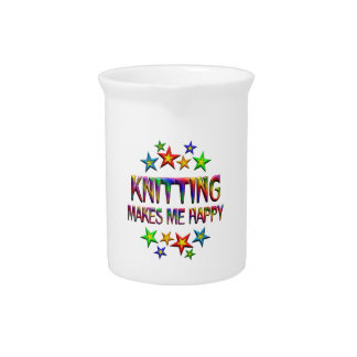 Knitting Happy Drink Pitchers
