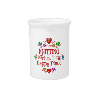 Knitting Happy Place Drink Pitcher