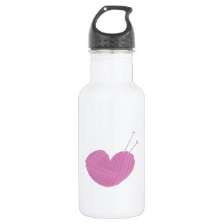 Knitting Heart 18oz Water Bottle