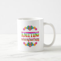 Knitting Heart Happy Mug