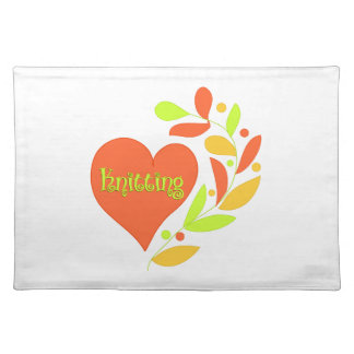 Knitting Heart Cloth Placemat