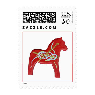 Knitting Horse Postage Stamp