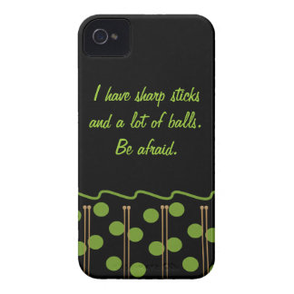Knitting Humor iPhone 4 4S Case Case-Mate iPhone 4 Case