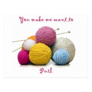 knitting humor postcard