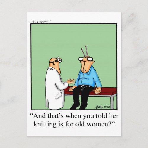 Knitting Humor Postcard
