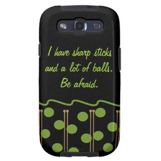 Knitting Humor Samsung Galaxy S3 Phone Case Samsung Galaxy SIII Cover