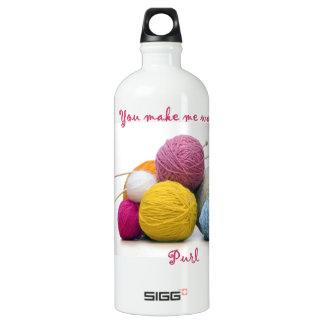 knitting humor SIGG traveler 1.0L water bottle