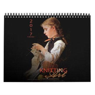 Knitting in Art - 2017 Calendar